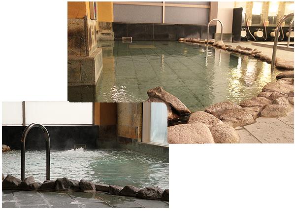 室内岩風呂