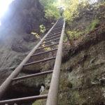 山梨 要害山から深草観音へ登山 スリル満点の梯子が面白い!