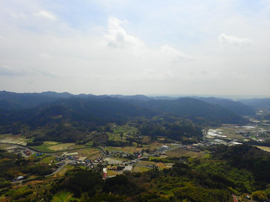 山頂からの景色