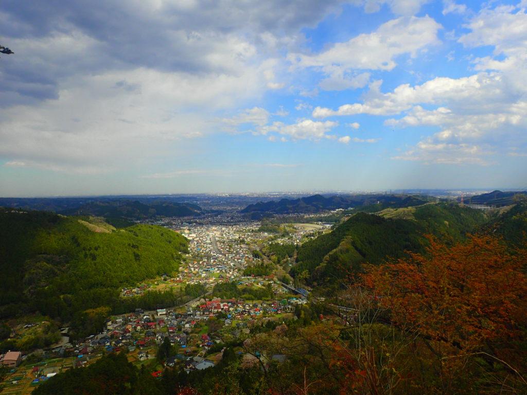 戸倉城山からの眺め
