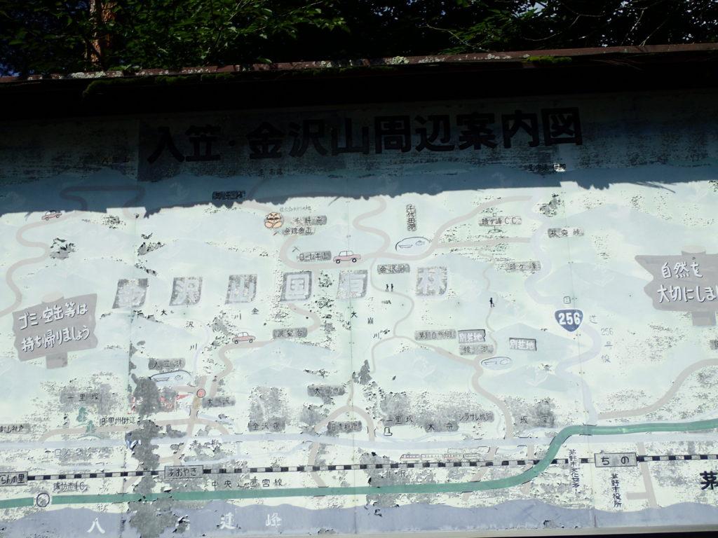 入笠山の地図
